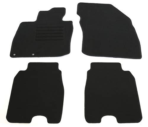 AD Tuning HG11732 Velours Fußmatten Set (4-teilig) Schwarz Passform Autoteppiche