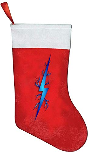 JIMSTRES 16.6' Lightning Bolt Personalized Christmas Stocking, Christmas Winter Wonderland Ornaments trainer socks
