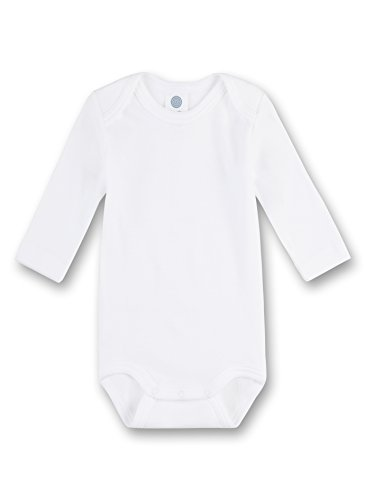 Sanetta 308500 Unisex - Baby Baby - Robe - Mixte bébé - Blanc (Weiss) - 9 Mois (Taille Fabricant: 74)