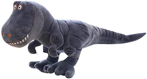 JMKHY Stuffed Dinosaur Toy Plush Toys 40Cm Soft Simulation Tyrannosaurus Rex Figure Doll Bed Time Stuffed Animal Toys Birthday Gifts For Baby Kids Boys-Gray