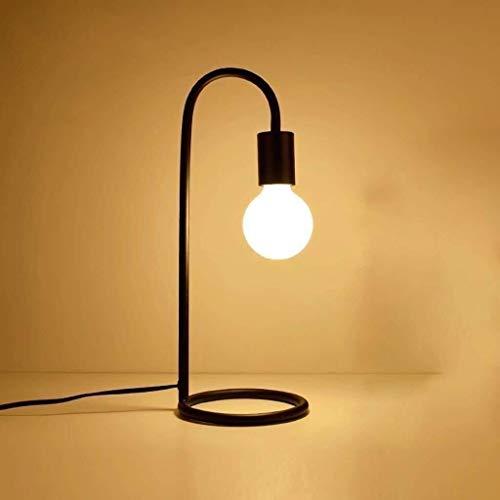 LHQ-HQ Lámpara de cabecera, Personalidad Arte E27 Lámpara de mesa industrial estadounidense, Lámpara de lectura Pantalla de lámpara mesita de noche antiguo de la vendimia de cristal de la lámpara de e
