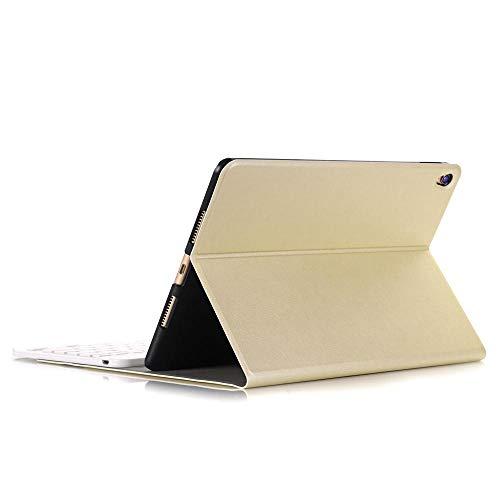 Funda con Teclado para iPad Mini 5 2019 Mini 4 Bluetooth inalámbrico para iPad Mini 5 Funda con Soporte de Cuero con Tapa Ultrafina + Stylus-Oro