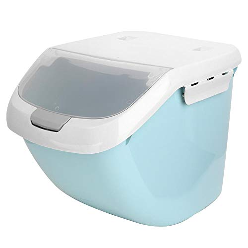 Best Deals! Sugoyi Moistureproof Sealing Cat Dog Food Storage Box Container Bucket with Measuring Cu...