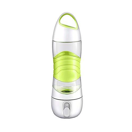 JujubeZAO Smart-Trinkflasche, Wasserflasche, tragbare Sport-LED-Licht, Trink-Erinnerung, Zerstäubern, intelligente Wasserflasche grün