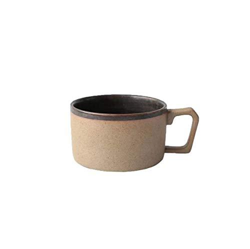 FEJK Handgemachte Keramik Kaffeetassen Mit Teller Tee Milch Büro Wasser Tassen Drink Geschenk Für Männer 258 Ml