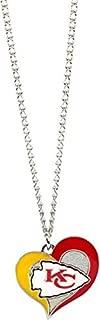 Aminco International NFL Kansas City Chiefs Swirl Heart Necklace