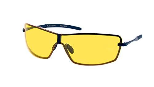 rainbow safety Herren Sonnenbrille Al-Mg Auto Brille Nachtsichtbrille Polarisierte Gläser RWNP3 (Nachtfahrbrille)