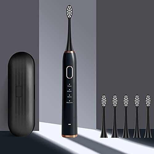 LIHUAN Elektrische Zahnbürste Wiederaufladbare Sonic Super-Automatik-Modell Für Erwachsene Mit Weichem Haar,Black
