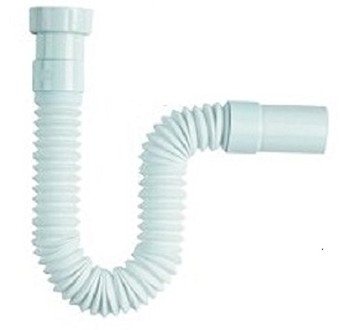 Universal-Abflusssiphon/Rohrverbinder, flexibel, 1 1/4