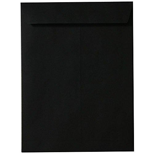 JAM PAPER 10 x 13 Open End Catalog Envelopes - Smooth Black - 50/Pack
