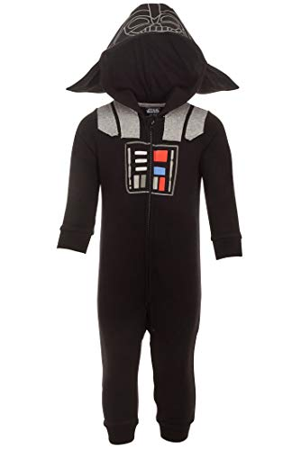 Star Wars Darth Vader Baby Boys Cosplay Hooded Costume Coverall 0-6 Months Black