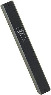 Peer Hastam Dark Gray Aluminum Weather-Proof Classic Mezuzah Case - 5.5 inches (4.7 inches Scroll)