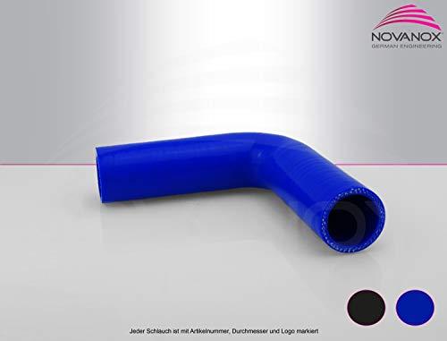 NovaNox German Engineering - bogenförmiger 60mm Ladeluftschlauch Universal Silikonschlauch Turboschlauch Ladedruckschlauch Turbolader Schlauch Anschlussschlauch - Wandstärke 5mm / Ø 60mm