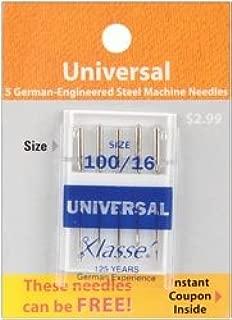 Klasse Bulk Buy Universal Machine Needles 100/16 5 Pack A5100-10016 (5-Pack)
