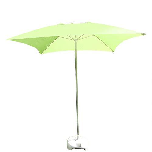 Pkfinrd Parasols Vierkante Patio Paraplu 6.6Ft/2m, Tuintafel Paraplu Voor Outdoor Yard, Strand Commerciële Event Market, Zwembad, Fruit Groen