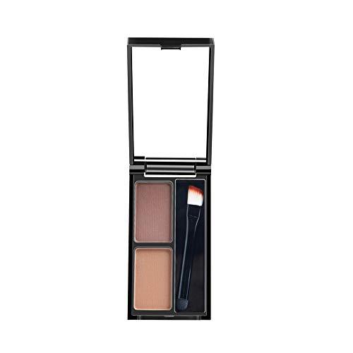 2 colores maquillaje polvo para cejas kit sombra a paleta con cepillo...