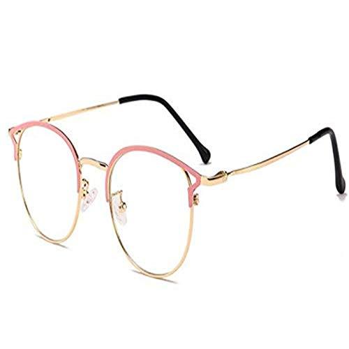 YANGYOU Nuevo original 2021 alta tecnología Penetrante Gafas Anti Azul Rayos Moda Metal Frame Clear Computer Gafas (D)