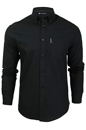 Herren Oxford-Hemd von Ben Sherman, langärmelig Gr. XXXXX-Large, Schwarz