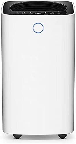 HXJZJ 1200 QM Ft Deumidificatore Deumidificazione Silenzioso Sicurezza dei Bambini Design per Stanze e Bagni Molto Grandi nel Seminterrato (Bianco)