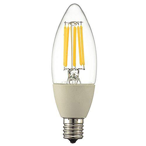 LED電球 60W形相当 E17 LEDフィラメントタイプ電球 シャンデリア球 750lm 全方向配光310° 電球色 クリア OHM オーム電機