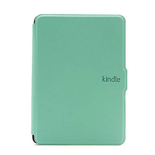 MOKASE - Funda para Kindle Paperwhite (piel sintética, magnética, resistente al agua), color blanco