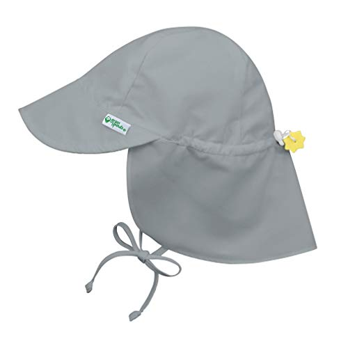 i play. by green sprouts Baby Toddler Sun Hat, Gray, 2T-4T
