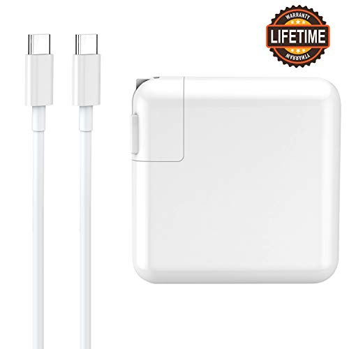 61W USB Power Adapter Charger Power Delivery PD for Apple MacBook/Pro, Lenovo, ASUS, Acer, Dell, Xiaomi Air, Huawei Matebook, HP Spectre, Thinkpad and Any Other Laptops or Smart Phones with Type C