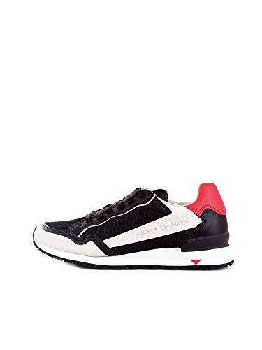FM6GENFAB12 White Grey Guess Guess Footwear Main - Zapatillas deportivas para hombre Negro Size: 45 EU