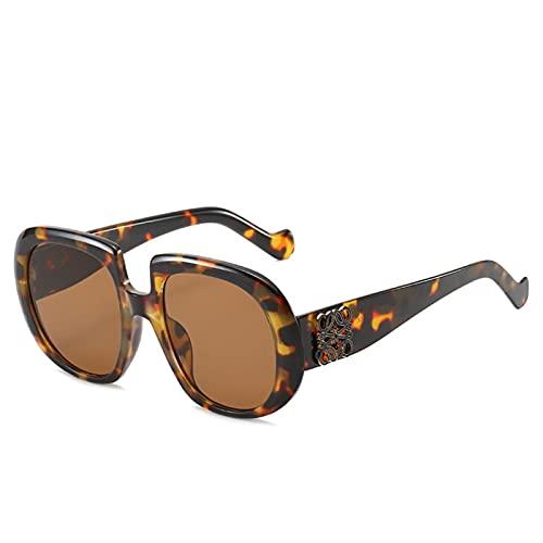 AMFG Personalidad Gafas de sol Gafas de sol Marco de metal Gafas de sol Mujer Tendencia Gafas de sol Verano al aire libre (Color : D)