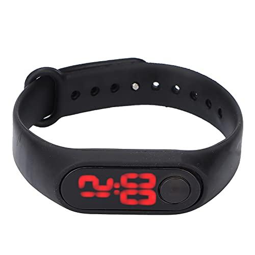CUTULAMO Reloj electrónico, Reloj Digital Tiempo de visualización confiable Cómodo Alta sensibilidad para el Tiempo del Reloj para Mujeres Hombres(Negro)