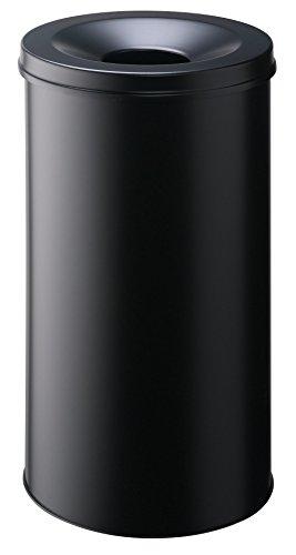 Durable 330701 Papierkorb Safe rund (60 Liter) schwarz