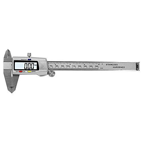 ZXLIFE@@ Mm/in/F Gauge Micrometer, Calibrador Digital Vernier, Herramienta De Medición De Calibre De Micrómetro, Fácil De Leer, Admite Medición De 4 Vías, para Industria, Automotriz