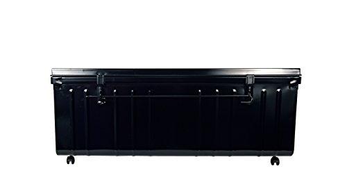 Coffre de Rangement sur Roulette, 175 L, Noir