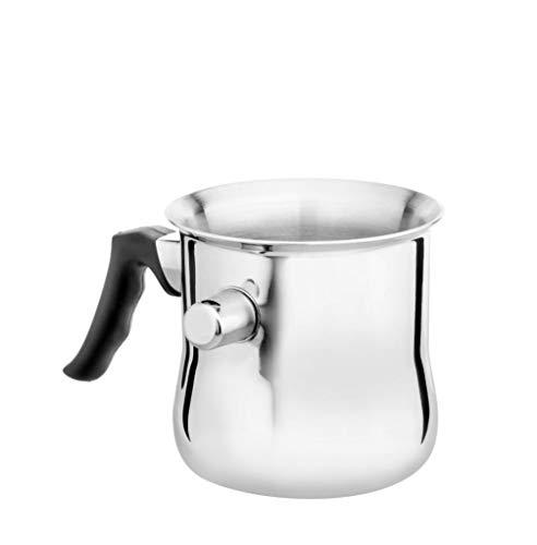 Milchtopf mit einer Pfeife aus Edelstahl Simmertopf Kochtopf Saucentopf Wasserbadkocher 1L Induktion