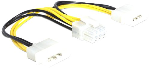 DELOCK Power 8-pins EPS > 2 x 4-pins Molex