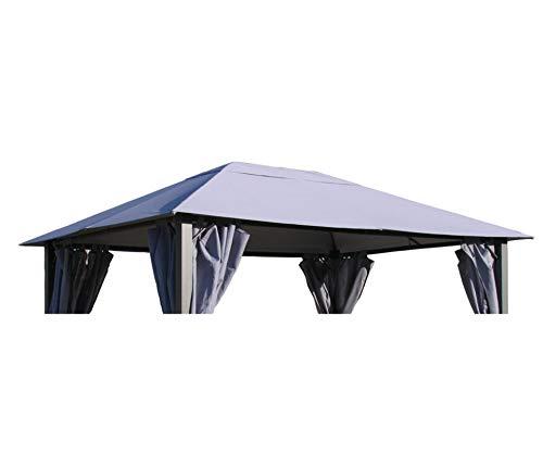 GRASEKAMP Qualität seit 1972 Ersatzdach zu Pavillon Paris 3x4m Grau
