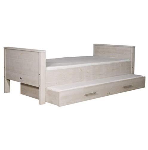 Bopita Bett Jannik Kinderbett Jugendbett Silber grau 90x200 cm Holz ohne Schublade