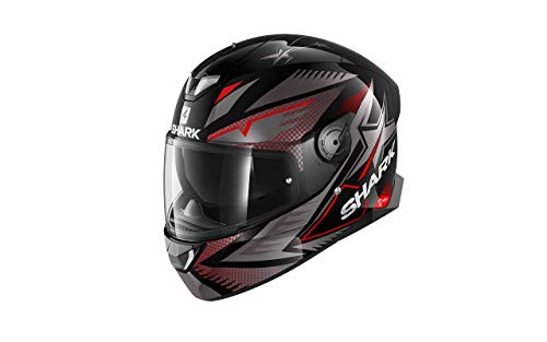 Astone Helmets SHARK, Casco Integrale Skwal 2.2 Draghal KAR Nero Antracite Rosso XL