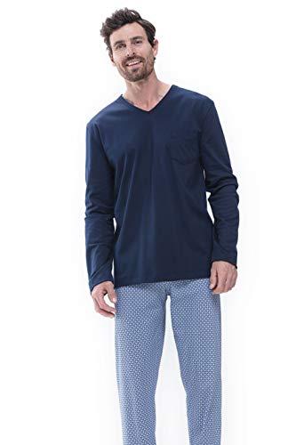 Mey Night San Pedro Herren Schlafanzüge lang Blau XL