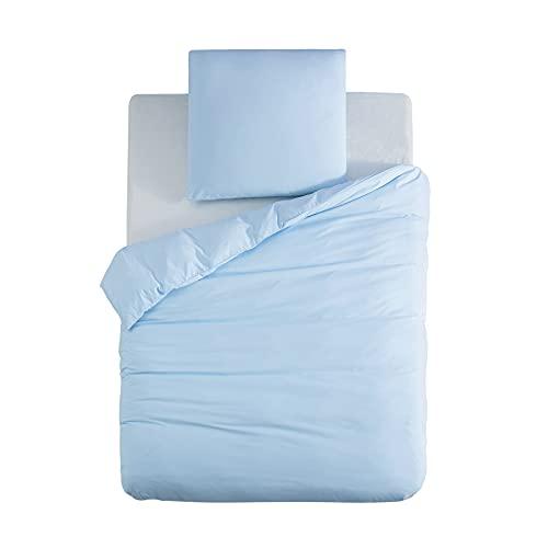 komplet po?cieli 135 x 200 cm, 100% mikrofibra, niebieski, 1 poszwa na ko?dr? 135 x 200 cm + 1 poszewka na poduszk? 80 x 80 cm, super mi?kka poszewka na ko?dr?, zestaw 2-cz??ciowy