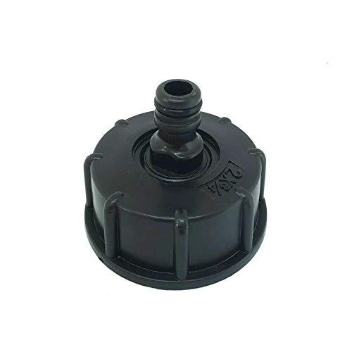IBC Adaptador de tanque SENRISE de plástico para manguera de grifo S60X6, tapa roscada gruesa a 3/4 pulgadas, adaptador de grifo para válvula IBC Ton