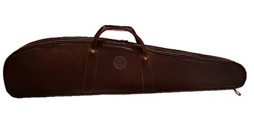 CAZA Y AVENTURA Funda Acolchada en Piel para Rifle montado con Visor. 125 cm