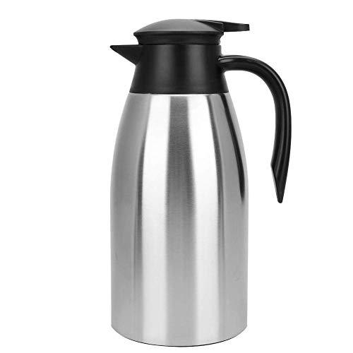 Pichet isotherme sous vide, carafe à café thermique en acier inoxydable de 2 L, thermos sous vide à double paroi isolés dans les ménages, garde efficacement les boissons chaudes (réchauffer jusqu'à