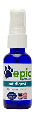 Cat Digest -Natural, Electrolyte, Odorless Pet Supplement That Reduces Hairballs, Promotes Healthy Digestion, and Helps with Constipation (1 Ounce, Spray)
