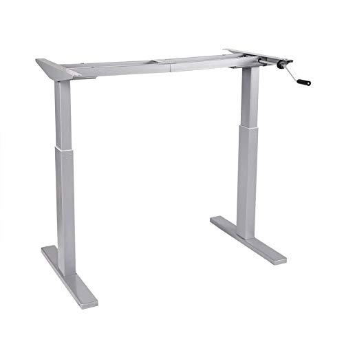 FLEXISPOT H2 biurko z regulacją wysokości z korbą (szare)
