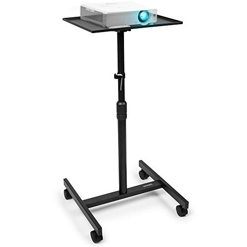 Duronic Projector Stand WPS20 | Adjustable Video Projector Floor Table on Wheels | Tall Moveable Laptop Trolley | Portable | On Caster Wheels | Adjustable Height | 10kg Capacity