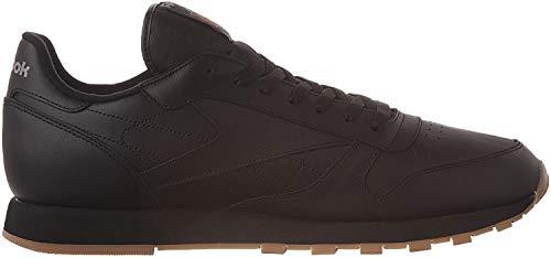 Reebok Men's Classic Leather Sneaker, Black/Gum, 12.5 M US