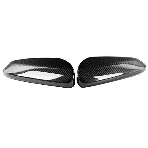 Monland Cubierta de Espejo Lateral de Coche de Fibra de Carbono Real Adorno de los Espejos Retrovisores para DéCima GeneracióN