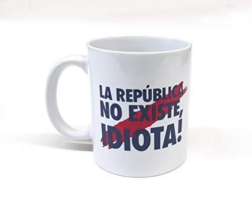 custom-cases Tasse Personnalisée Phrase à La Mode puigdemont le république de Il n'y a pas d'idiot Tasse de Petit déjeuner Idéal pour Cadeau Espagne Catalogne
