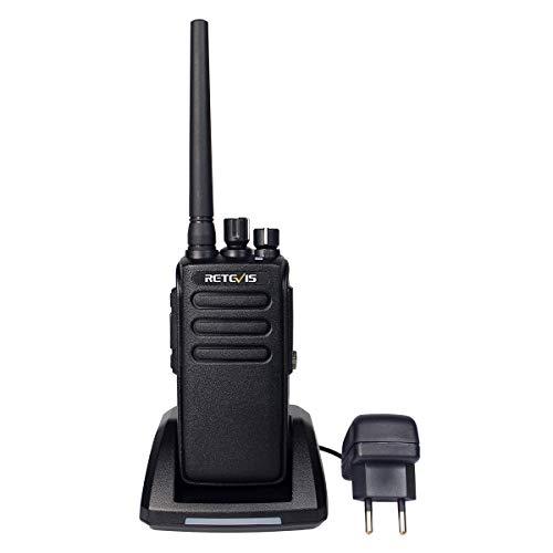 Retevis RT81 DMR Radio Walkie Talkie Digital 32 Canales IP67 Impermeable Alta Potencia Encriptación Monitoreo Remoto (Negro, 1 Pack)